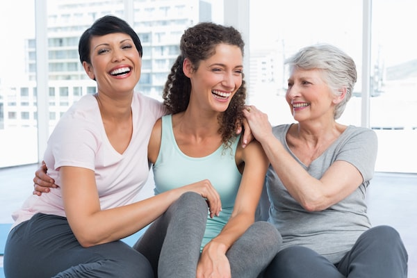 Three generations of women who have restored their smiles thanks to Loganville cosmetic dentistry
