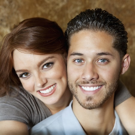 A couple with teeth whitening from our experts in Loganville Cosmetic Dentistry
