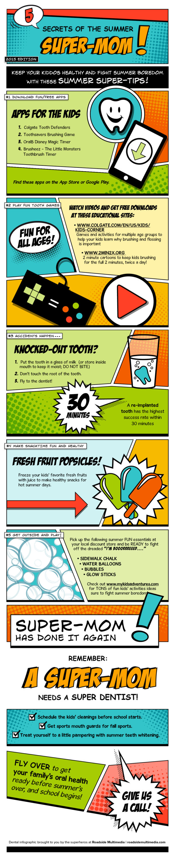 Some tips and tricks of the summer super-mom.