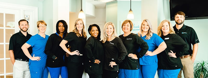 The Creekside dental team in Loganville